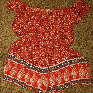 Charlotte Russe jumper red paisley pattern